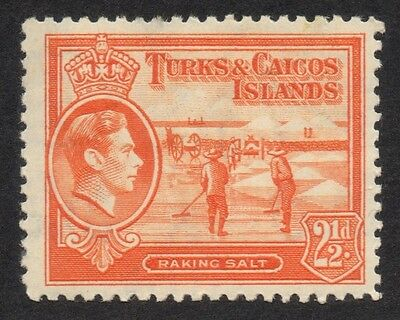 Turks & Caicos - 1938 / KGVI - 2½d - SG199a - Lightly Mounted Mint