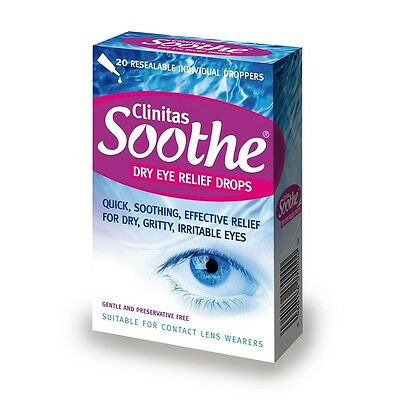 Clinitas Soothe Lubricant Eye Drops relief of dry, gritty or irritated eyes