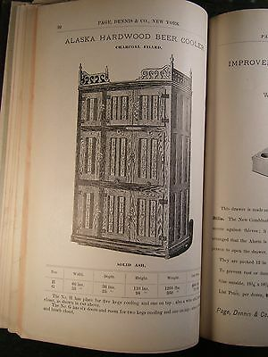 Page Dennis Catalog 1894, Howe Scales, Ice Boxes, Coffee Mills, Cash Registers