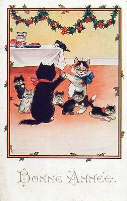 Cpa - Animaux - Chats Humanises
