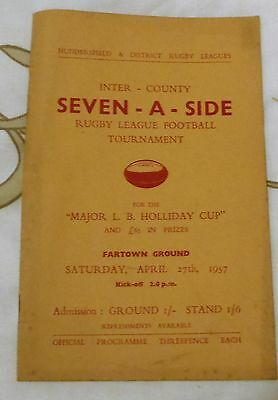 huddersfield & district rugby leagues. seven-a-side tournament 1957