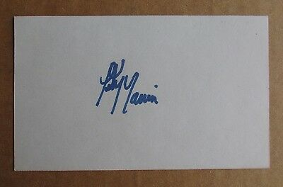 Peter Marrin Signed Autograph 3X5 Index Card Wha Hockey Toronto Toros Bulls