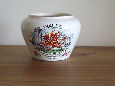 1969 HRH Prince Charles Investiture Wales Pot
