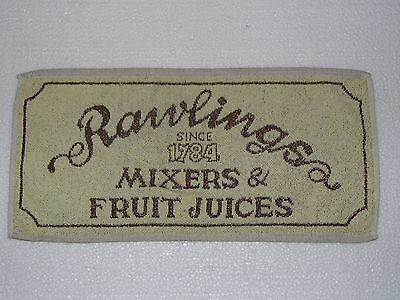 BAR BEER TOWELS - RAWLINGS - MIXERS & FRUIT JUICES  -  Used - Good Condition