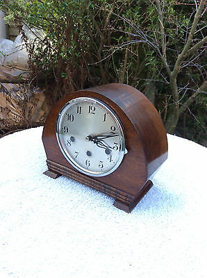 Beautiful Art Deco Vintage Antique Mantel Clock Westminster Chime See Video