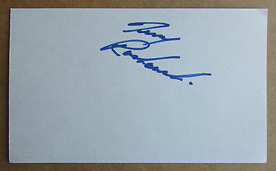 Terry Ruskowski Signed Autograph 3X5 Index Card Nhl Blackhawks Kings Penguins