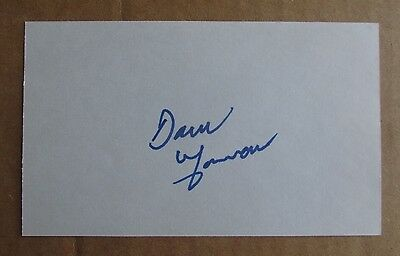 Dave Gorman Signed Autograph 3X5 Index Card Nhl Flames Wha Bulls Roadrunners
