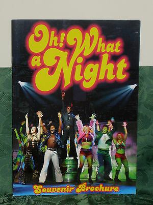 OH! WHAT A NIGHT Souvenir Brochure Programme 2003 The Ultimate 70's Musical