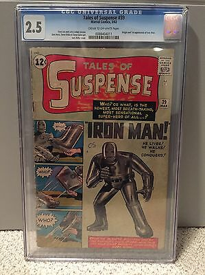 Tales Of Suspense #39 CGC 2.5 Origin And 1st Appearance Of Iron Man Unrestored