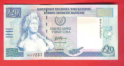 20 CYPRUS POUNDS 1997 -  UNCirculated.