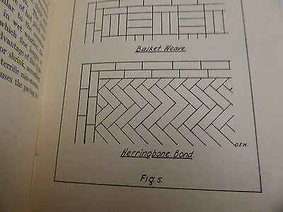 Tiling  Paving Old Time Experts Book 1939 Illustrated Measuring Laying Setting