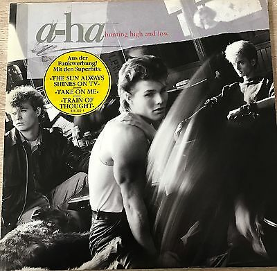A-HA LP hunting high and low OIS '1985