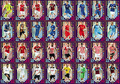 Match Attax 2016/17 - Pro 11 Cards - Complete Set - P1 To P32  - Mint Condition