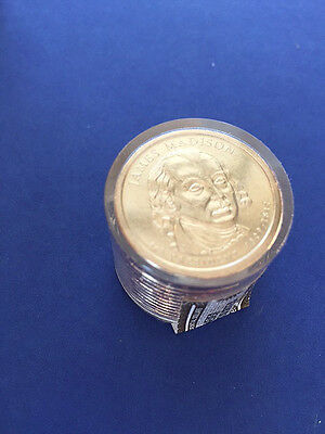 Roll of 12 - 2007 James Madison Presidential Dollar Coins, Uncirculated & Sealed