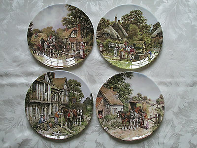 Set Of 4 Royal Doulton Plates - The Countryside Remembered