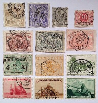 WORLD -BELGIUM Early Collection Used Stamps (13)