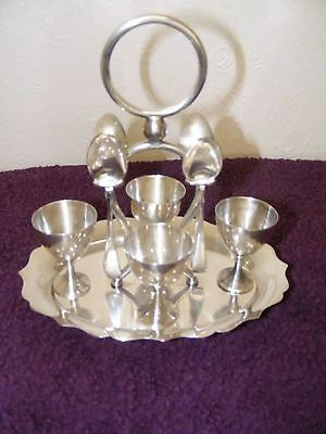 Vintage Silver plated egg cup stand