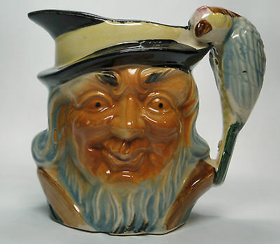 "Vintage, Collectable Pirate Toby Jug Marked  ""Foreign"" With Parrot Handle"