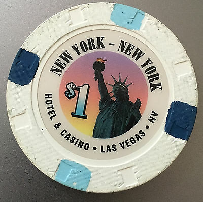 "$1 Casino Chip From ""new York - New York"" Las Vegas Strip 1St Issue Obs"