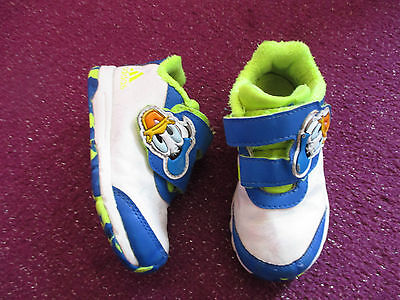 Boys Donald Duck Adidas Trainers Infant Size Uk 7