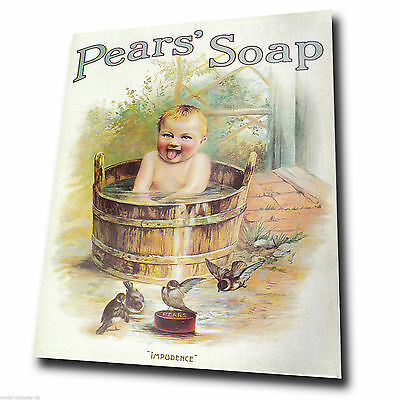METAL SIGN WALL PLAQUE - PEARS SOAP - Vintage Retro poster art picture print