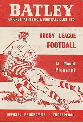 24.10.1953  BATLEY v WAKEFIELD TRINITY rugby league programme
