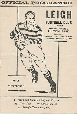 19.09.1959  LEIGH v BRADFORD NORTHERN rugby league programme