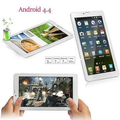 7inch HD Camera 3G Quad Core Tablet PC Android 4.4 1Gb+8GB WIFI Bluetooth