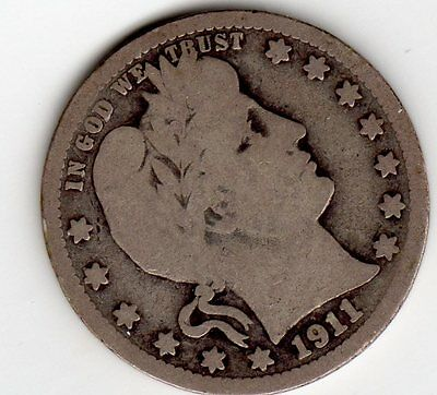 1911 D Barber Quarter Only 933.6 Thousand Minted Key Date