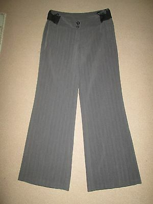 Lovely Size 12 Grey New Look Maternity Trousers 32L See Pics!!
