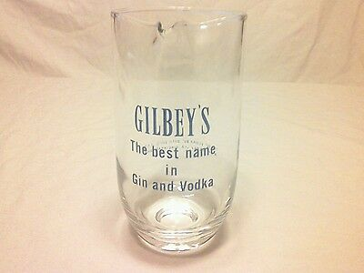 Vintage GILBEY'S glass pitcher