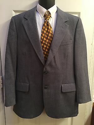 Rodex London New York Blue Pinstripe Wool Pinstripe 2 Button Suit Size 40R