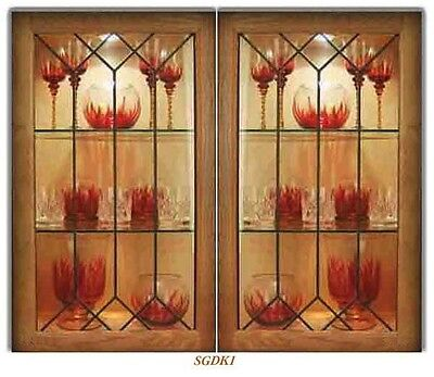 We specialize in  Stained & Leaded Glass Cabinet door inserts