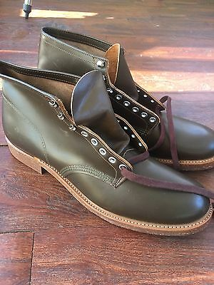 Vtg 70s Outdoorsman  Brown Leather Lace Up Work Boot Engineer Motorcycle Size 13