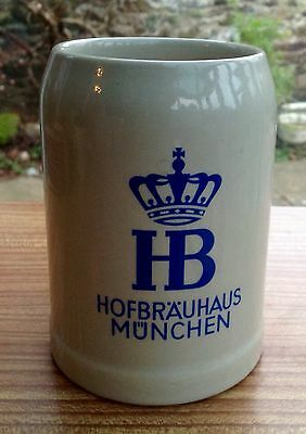 Hofbrauhaus Munchen Stone Ware COLLECTABLE Beer Stein Tankard Made In Germany