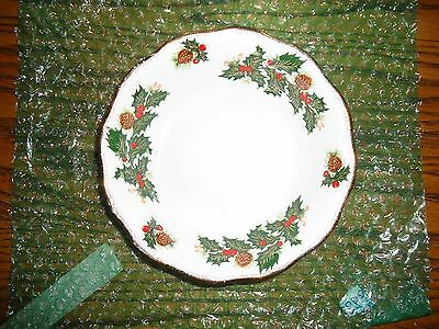 Vintage Rosina China Queens Yuletide Scalloped Cereal Bowl