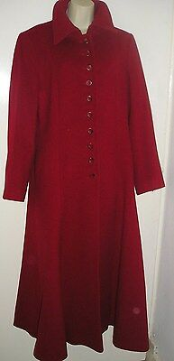 Windsmoor Red Wool Full Length Coat Size 14