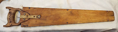 Vintage Tyzack & Sons & Turner Double Sided Pruning Saw Sheffield  In Wood Case