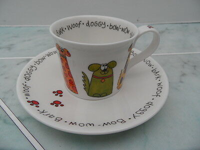 Dunoon  Expresso Cup & Saucer.  Animal Crackers Dog By Sarah Mercer