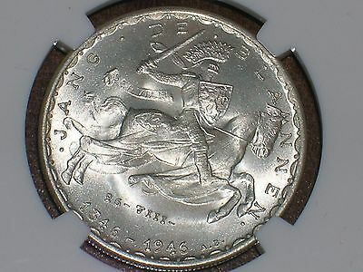 1946 Luxembourg 20 Francs John The Blind NGC MS68 FINEST KNOWN EXAMPLE , 1/0 TOP