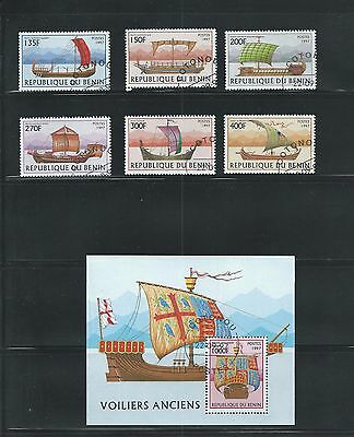 Benin Scott # 1040-1046 Used/CTO Old Sailing Vessels