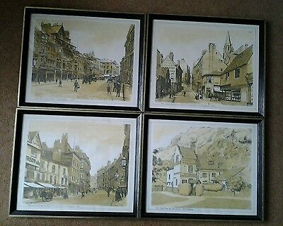 Four Pictures. Prints of drawings of Victorian Nottingham Scenes
