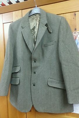 "Bespoke John Brocklehurst Keepers Tweed Hunt Shooting Mens Jacket 40 "" Chest"