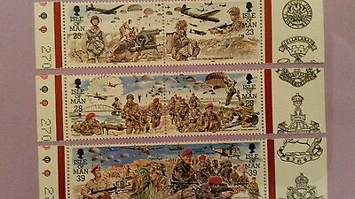 Isle of Man 1992 royal Welsh fusilers postage  stamps  mint