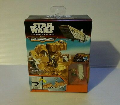 Star Wars The Force Awakens Micro Machines First Order Storm trooper Playset New