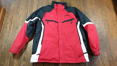 Men's Spyder Snow Skiing Boarding Jacket Coat Size XL Thinsulate Red Black White