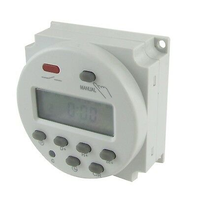 DC 24V Digital LCD Power Programmable Timer Time Switch Relay 10A