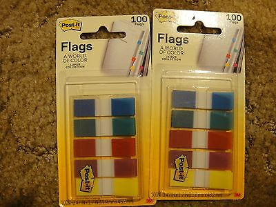 *2* PKGS 3M POST-IT FLAGS**NEW**100 CT EACH .47 X 1.7 Juipur Collection