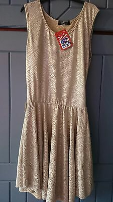 Ladies gold evening/party/occasion dress - size M/L