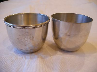 Vintage Salisbury Pewter Jefferson Cups Images Of America Pair 2 Handcrafted